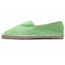 Europäische Süßigkeiten Farbe Leinen Basis saugfähigen faule Leinwand manuelle Linie flache Schuhe Wölbung Tuch Schuhe