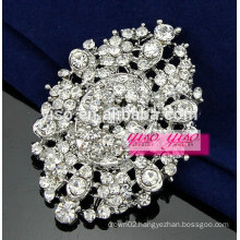 crystal aster flower brooch