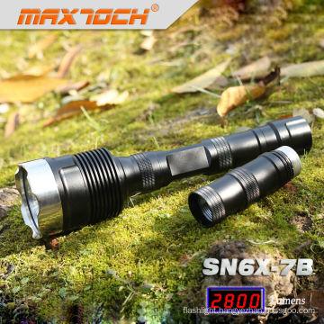 Maxtoch SN6X-7B 18650 2800LM 3*CREE LED Strong Light Flashlight