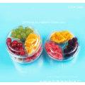 Medida clara alimento envase de plástico transparente (bandeja del animal doméstico)