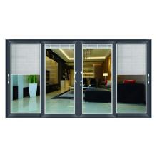 Portes à persiennes sur mesure / portes en verre coulissantes en alliage d'aluminium Portes à persiennes sur mesure / portes en verre coulissantes en alliage d'aluminium