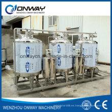 Sistema de limpieza CIP de acero inoxidable Sistema de limpieza para la limpieza en el lugar