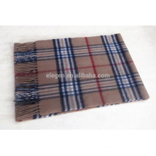 Classic Check Pattern Wool Scarf
