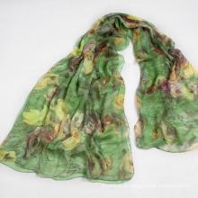 Elegante e elegante lenço de mulher Shawl Autumn Green