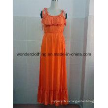 Vestido de verano al por mayor atractivo de las mujeres de la tarde de la moda del algodón
