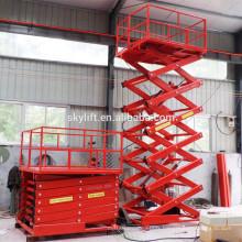 Ascenseur de cargaison stationnaire d'entrepôt de ciseaux