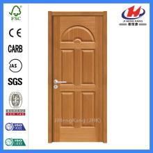 * JHK-015 Portas de madeira internas de madeira Portas de madeira de madeira de mogno Portas de madeira com dobra bi