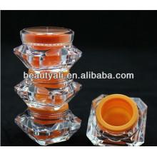 Tarro de plástico cosmético de acrílico del diamante barato 2012