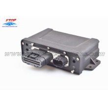 Overmolded plastic box for GPS system