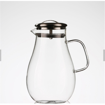 Eco friendly custom New Design Good Price Water Pitcher glass jug with 304 stainless steel lid