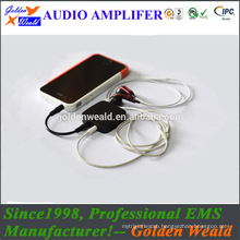 personal sound amplifier headphone amplifier rechargeable battery amplifier