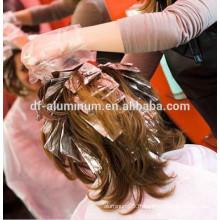 Papier en aluminium pour cheveux en aluminium, rouleau en aluminium argenté