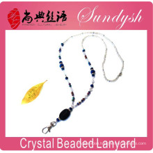 Beaded Lanyard Latest Fashion Crystal Bead Keychain For Badge