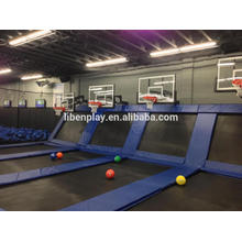 size can be customized amusement park indoor trampoline LE.BC.080.01