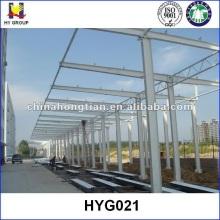 Prefabricado de techo de estructura de acero coche aparcamiento