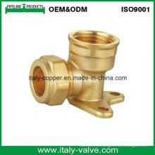 OEM y ODM Calidad de latón forjado de compresión de pared Pallet Codo (AV70026)