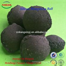 Bola / briqueta del manganeso del silicio de Brown del negro de la pureza elevada para la fabricación de acero