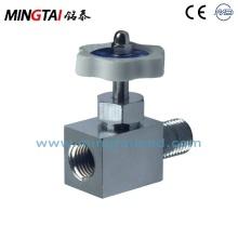 Hospital pressure gauge valve