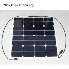 50W 12V Sun Power Cell Semi Flexible Panneau Solaire