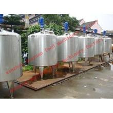 Réservoir de mélange de réservoir de mélange liquide d'acier inoxydable Agitant le réservoir