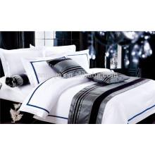 Juego de cama de hotel con sábanas y sábanas para sábanas y sábanas