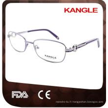 Chine Wholesale femmes dimond lunettes métalliques cadre optique