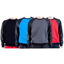 Multicolor Patch Leather Plain Sweatshirts Surdimensionné