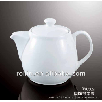 830ml 2014 hot sale hotel and restaurant used porcelain tea pot
