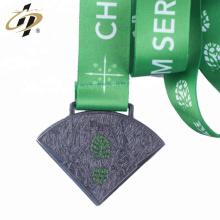 2018 сделать античный металл медаль щепка пользовательские формы