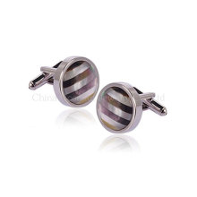 Classic Minimalist Silver Cufflinks for Men to Marry