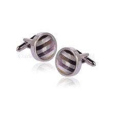 Классические минималистические серебряные запонки для мужчин, чтобы выйти замуж