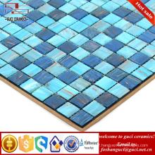 China supply factory hots products mixed design bule Hot - melt mosaic tiles