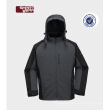 Softshell de chaquetas para hombre de invierno con capucha y cremallera frontal activa al aire libre Active