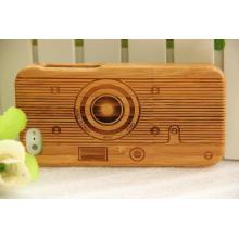 O clássico elegância tampa da caixa de telefone de madeira para iphone madeira de bambu