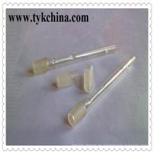 Vidrio borosilicato claro cono con base Socket adaptador para cachimba