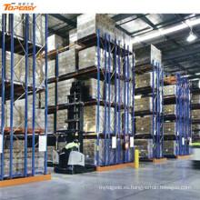 almacén almacenamiento metal industrial doble profundidad rack