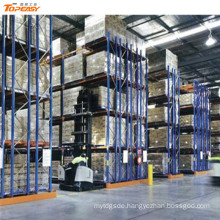 warehouse storage metal industrial double-deep pallet rack