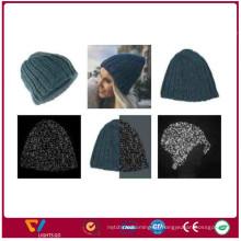 China neue Ankunftsart und weise stricken Winter refectlive Garn-Beaniehüte für im Freien für Sicherheit