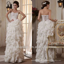 2013 New Style A Line Tulle Satin Bustle Skirt Sweetheart Corset Sweep Train Wedding Dress Bridal Gown