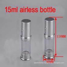15ml Cosmetic Aluminium Silver Cap Airless Bottle, Serum/Lotion/Eye Cream Bottle