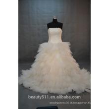 EM STOCK Off-The-Shoulder Bubble falha vestido de noiva vestido de noiva de chão SW11