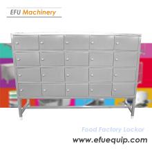 Armoire de casier d'usine alimentaire en acier inoxydable