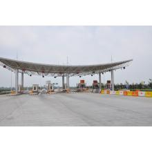 Estructura de acero de estructura de acero Sistema de techo utilizado para la estación de peaje de China fabricante