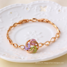 Xuping Jewelry Gemstone Rose Gold Color Bracelet
