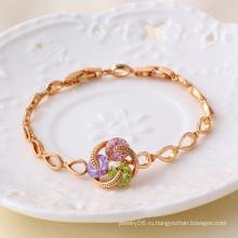 Xuping ювелирные изделия Gemstone розового золота цвета браслет