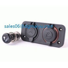 12V USB Charger Cigarette Plug Car Motorcycle Power Socket