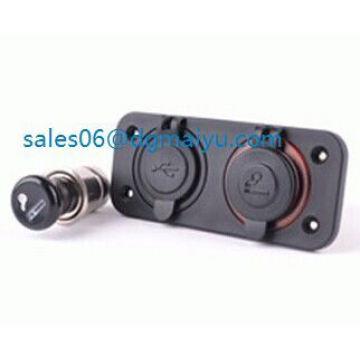 12V USB Charger Cigarette Plug Car Motorcycle Power Socket
