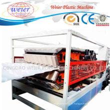 Chaîne de production en plastique de feuille de tuiles de toiture de vague vitrée par PVC