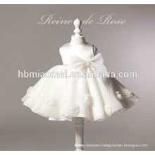 new fashion white color flower girl dress girl dress 2-6 years for wedding