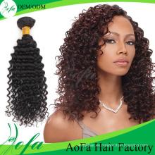 Extensión profunda del cabello humano de la onda natural del pelo de la Virgen